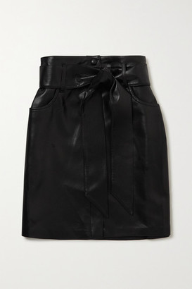 Nanushka Meda Belted Vegan Leather Mini Skirt - Black
