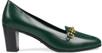Gucci Women's mid-heel pump with Horsebit chain