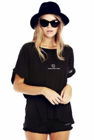 Wildfox Couture Cancer Astrology Boy Tee in Clean Black