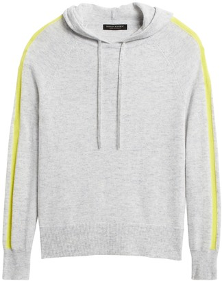 Banana Republic Cashmere Side-Stripe Sweater Hoodie
