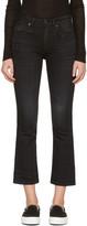 R 13 Black Kick Fit Jeans