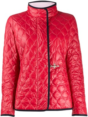 Fay Mock Neck Quilted Jacket