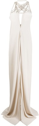 Rick Owens Sleeveless Strappy Maxi Dress