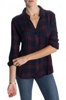 Hunter Plaid Shirt Burgundy/Navy