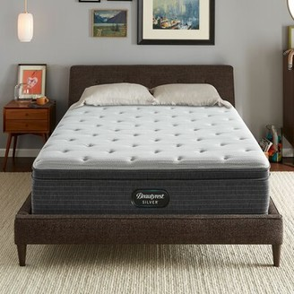 "Simmons Silver 13"" Medium Innerspring Mattress and Box Spring Mattress Size: Twin, Box Spring Height: Low Profile (5"")"
