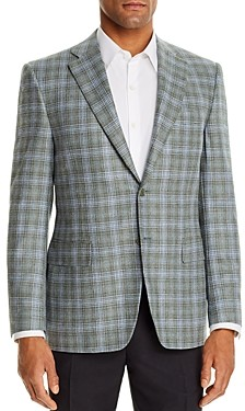 Canali Siena Textured Plaid Classic Fit Sport Coat