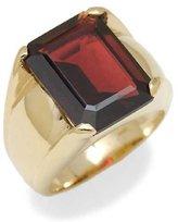 Tatitoto Gioie Men's Ring in 14k Gold with Garnet, Size 8, 14 Grams