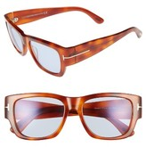 Tom Ford Women's 'Stephen' 54Mm Retro Sunglasses - Blonde Havana/ Blue