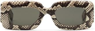 Gucci Rectangular frame ayers sunglasses