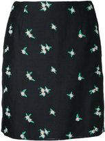 CITYSHOP daisy embroidered skirt - women - Linen/Flax/Polyester/Rayon - 38