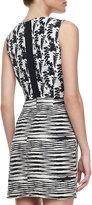 Helena Whit Silk/Linen Cutout Dress