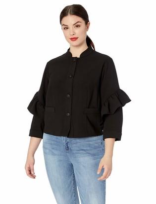 Rachel Roy Women's Plus Size Ruffle Jacket