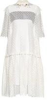 Kolor Drop-waisted broderie-anglaise dress