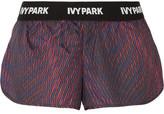 Ivy Park Printed Shell Shorts - Merlot