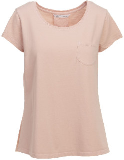 Woolrich Large Pink Lyocell Spring Jersey Womens Tee - Lyocell | pink | l - Pink/Pink