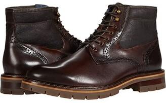 Johnston & Murphy Cody Plain Toe Shearling Boot (Mahogany Full Grain Leather/Shearling) Men's Boots
