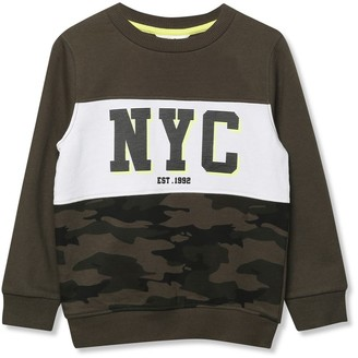 M&Co NYC camo sweatshirt (9mths-5yrs)