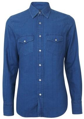Tom Ford Light denim western shirt