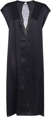 Ann Demeulemeester V-neck Sleeveless Long Dress