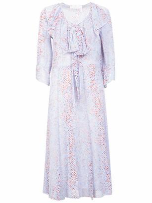See by Chloe Ruffled Printed Long Dress