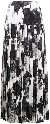 Alexandre Vauthier Floral Print Maxi Skirt