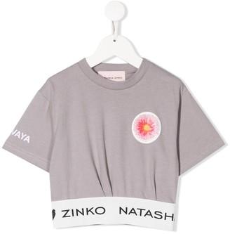Natasha Zinko Kids logo cropped T-shirt