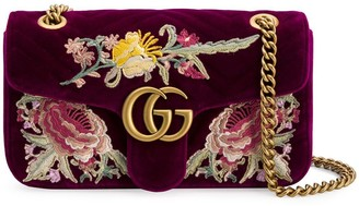 Gucci GG Marmont embroidered shoulder bag