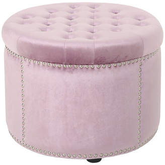 Phenomenal Velvet Tufted Ottoman Shopstyle Squirreltailoven Fun Painted Chair Ideas Images Squirreltailovenorg
