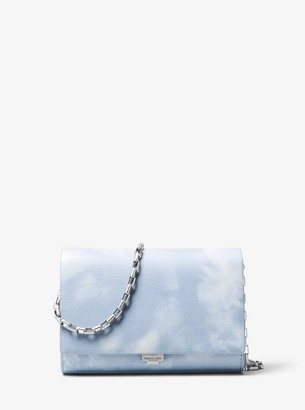 Michael Kors Yasmeen Tie-Dye Leather Clutch