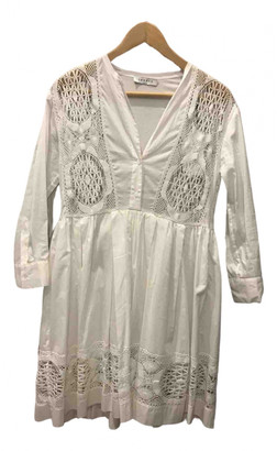 Sandro Spring Summer 2020 White Cotton Dresses