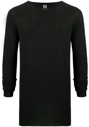 Rick Owens Fine Knit Ribbed Detail Top