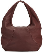 Bottega Veneta Cervo Large Leather Hobo Bag, Wine