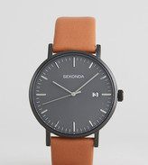 Sekonda Minimalist Tan Leather Watch With Grey Dial Exclusive To Asos