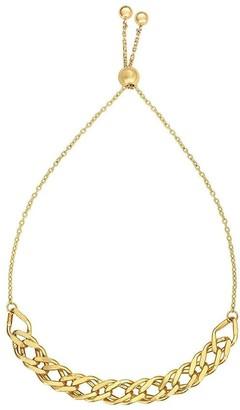 Overstock Mcs Jewelry Inc 14 KARAT YELLOW GOLD ADJUSTABLE LINKED FRIENDSHIP CHAIN BOLO BRACELET