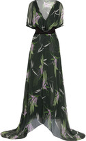 Marni Printed silk-chiffon maxi dress
