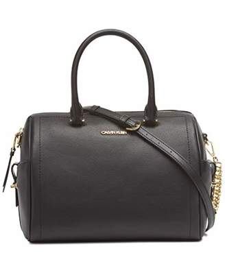 Calvin Klein Chained Daytonna Leather Satchel