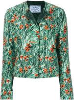 Prada poppy print cropped jacket