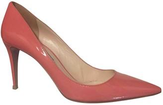 Prada Pink Patent leather Heels