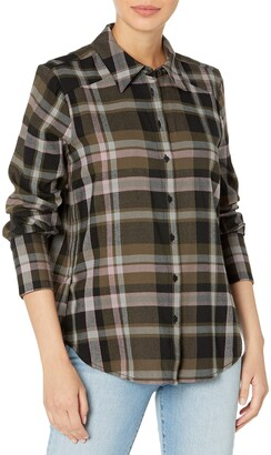 Paige Women's DAVLYN Plaid Oversized Button UP Shirt