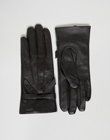 Oasis Real Leather Bow Gloves