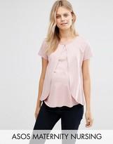 ASOS Maternity - Nursing ASOS Maternity NURSING Top With Ruffle Overlay
