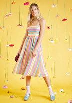 ModCloth Purposefully Piquant Midi Dress in XXS