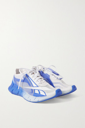 Reebok + Cottweiler Zig 3d Storm Rubber And Mesh Sneakers - White