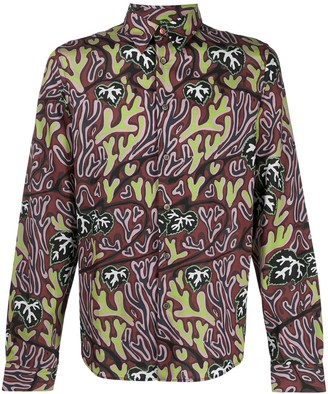 Paul Smith Abstract-Print Pointed Collar Shirt
