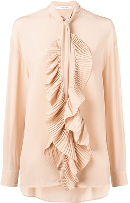 Givenchy Ruffled Scarf Neck Blouse