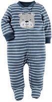 Carter's Baby Boy Striped Fleece Sleep & Play