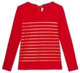 Petit Bateau Womens sequin-stripe tee