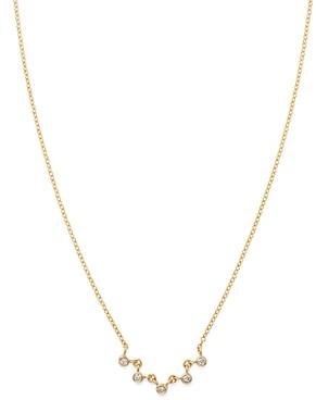 Zoë Chicco 14K Gold Diamond Bezel-Set Collar Necklace, 14 + 2 extender