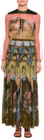 Valentino Garden of Delight Printed Long-Sleeve Gown, Multi