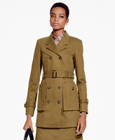 Brooks Brothers Double-Breasted Twill Trench Coat